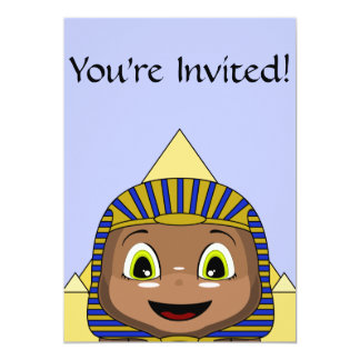Chibi Sphinx With Pyramids Card