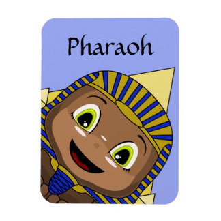 Chibi Sphinx With Pyramids Rectangle Magnet