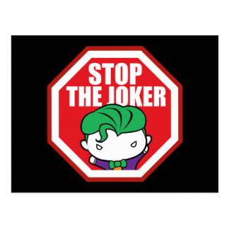 "Chibi ""Stop The Joker"" Sign Postcard"