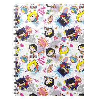 Chibi Super Heroine Pattern Note Books