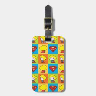 Chibi Supergirl Character Turnaround Luggage Tag