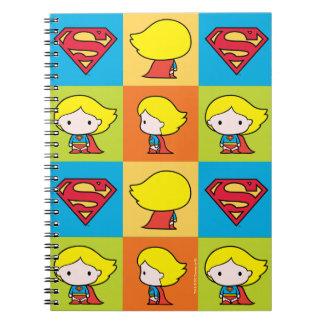 Chibi Supergirl Character Turnaround Notebooks
