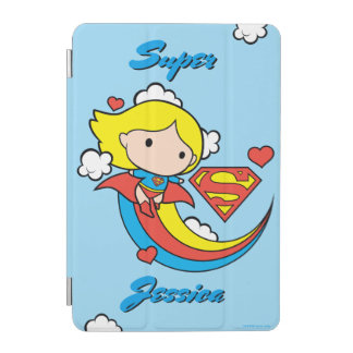 Chibi Supergirl Flying Rainbow iPad Mini Cover