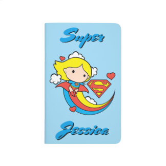 Chibi Supergirl Flying Rainbow Journal