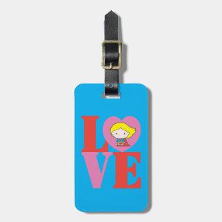 Chibi Supergirl LOVE Luggage Tag