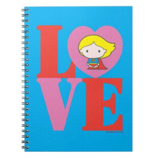 Chibi Supergirl LOVE Notebook