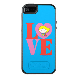 Chibi Supergirl LOVE OtterBox iPhone 5/5s/SE Case