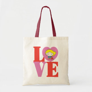 Chibi Supergirl LOVE Tote Bag