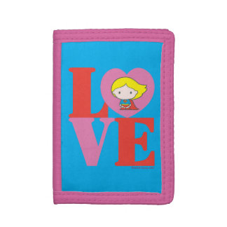 Chibi Supergirl LOVE Tri-fold Wallet