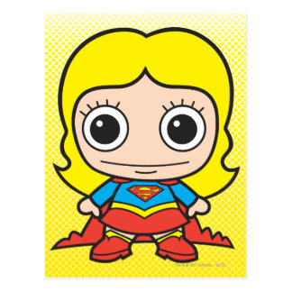 Chibi Supergirl Postcard