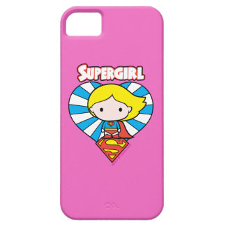 Chibi Supergirl Starburst Heart and Logo Case For The iPhone 5