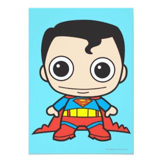 Chibi Superman 13 Cm X 18 Cm Invitation Card