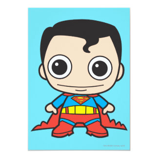 Chibi Superman 13 Cm X 18 Cm Invitation Card