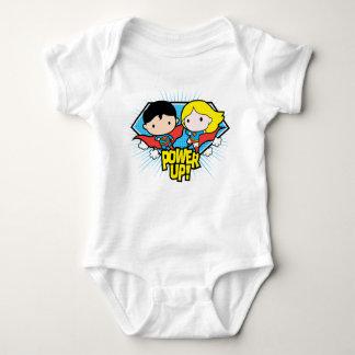 Chibi Superman & Chibi Supergirl Power Up! Baby Bodysuit