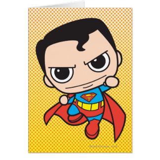 Chibi Superman Flying Greeting Card