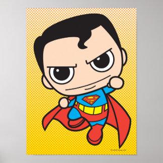 Chibi Superman Flying Poster