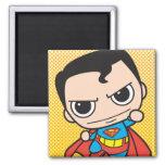 Chibi Superman Flying Square Magnet
