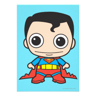 Chibi Superman Personalized Invites