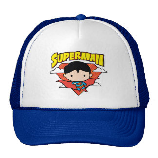 Chibi Superman Polka Dot Shield and Name Cap