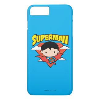 Chibi Superman Polka Dot Shield and Name iPhone 8 Plus/7 Plus Case