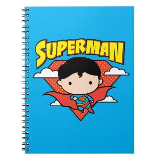 Chibi Superman Polka Dot Shield and Name Notebooks