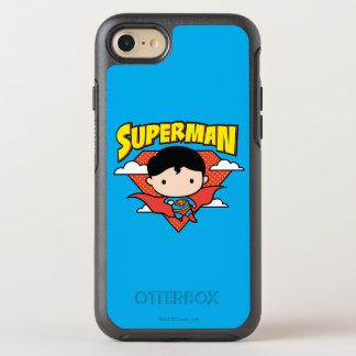 Chibi Superman Polka Dot Shield and Name OtterBox Symmetry iPhone 8/7 Case