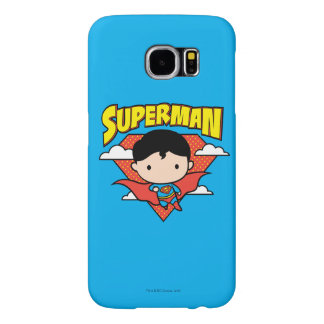 Chibi Superman Polka Dot Shield and Name Samsung Galaxy S6 Cases