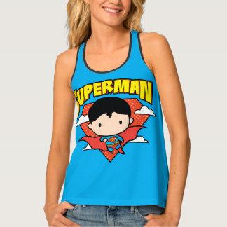 Chibi Superman Polka Dot Shield and Name Tank Top