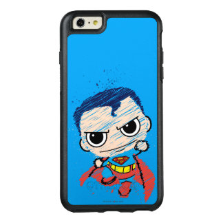 Chibi Superman Sketch - Flying OtterBox iPhone 6/6s Plus Case