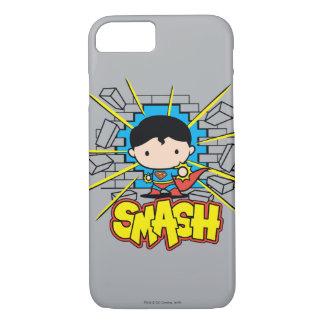Chibi Superman Smashing Through Brick Wall iPhone 8/7 Case