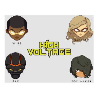 Chibi Team High Voltage Postcard