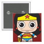 Chibi Wonder Woman 15 Cm Square Badge