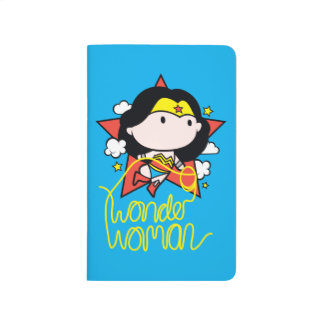 Chibi Wonder Woman Flying With Lasso Journal