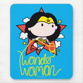 Chibi Wonder Woman Flying With Lasso Mouse Mat