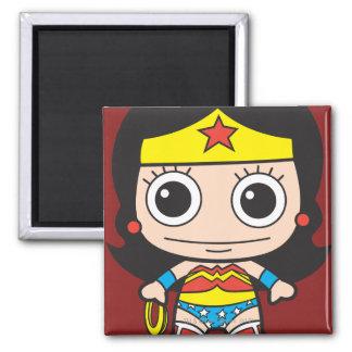 Chibi Wonder Woman Square Magnet