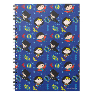 Chibi Wonder Woman, Superman, and Batman Pattern Notebook