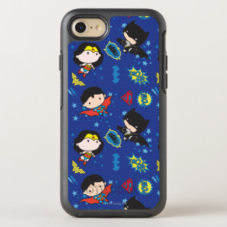 Chibi Wonder Woman, Superman, and Batman Pattern OtterBox Symmetry iPhone 8/7 Case