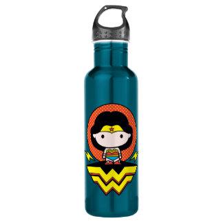Chibi Wonder Woman With Polka Dots and Logo 710 Ml Water Bottle