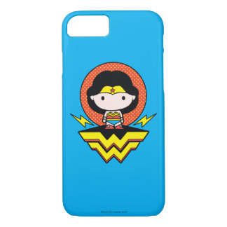 Chibi Wonder Woman With Polka Dots and Logo iPhone 8/7 Case