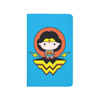Chibi Wonder Woman With Polka Dots and Logo Journal