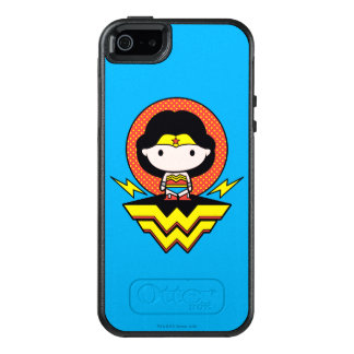 Chibi Wonder Woman With Polka Dots and Logo OtterBox iPhone 5/5s/SE Case