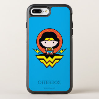 Chibi Wonder Woman With Polka Dots and Logo OtterBox Symmetry iPhone 8 Plus/7 Plus Case