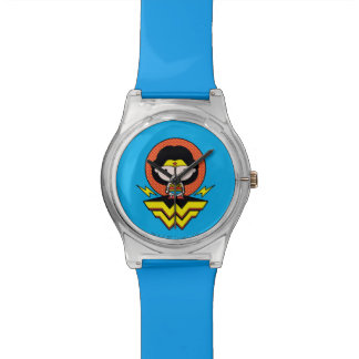 Chibi Wonder Woman With Polka Dots and Logo Watch