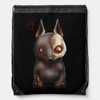 Chibi Zombie Dog Drawstring Backpack