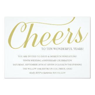 Chic 10th Wedding Anniversary Party Invitation