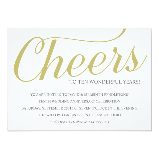 10 Year Wedding Anniversary Invitations: Anniversary Invitations & Announcements