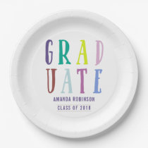 Chic 2018 colorways Graduation Paper Plate