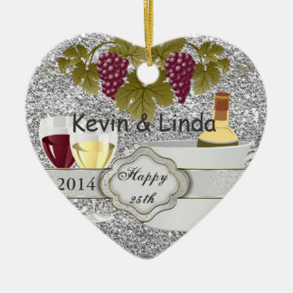 CHIC 25th ANNIVERSARY GIFT ORNAMENT WINE LOVERS