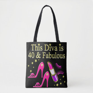 CHIC 40 AND FABULOUS FASHION QUEEN DESIGN TOTE BAG
