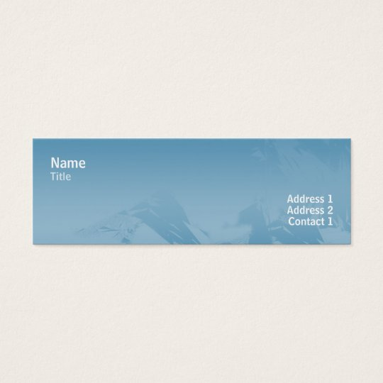 Chic 80s - Skinny Mini Business Card